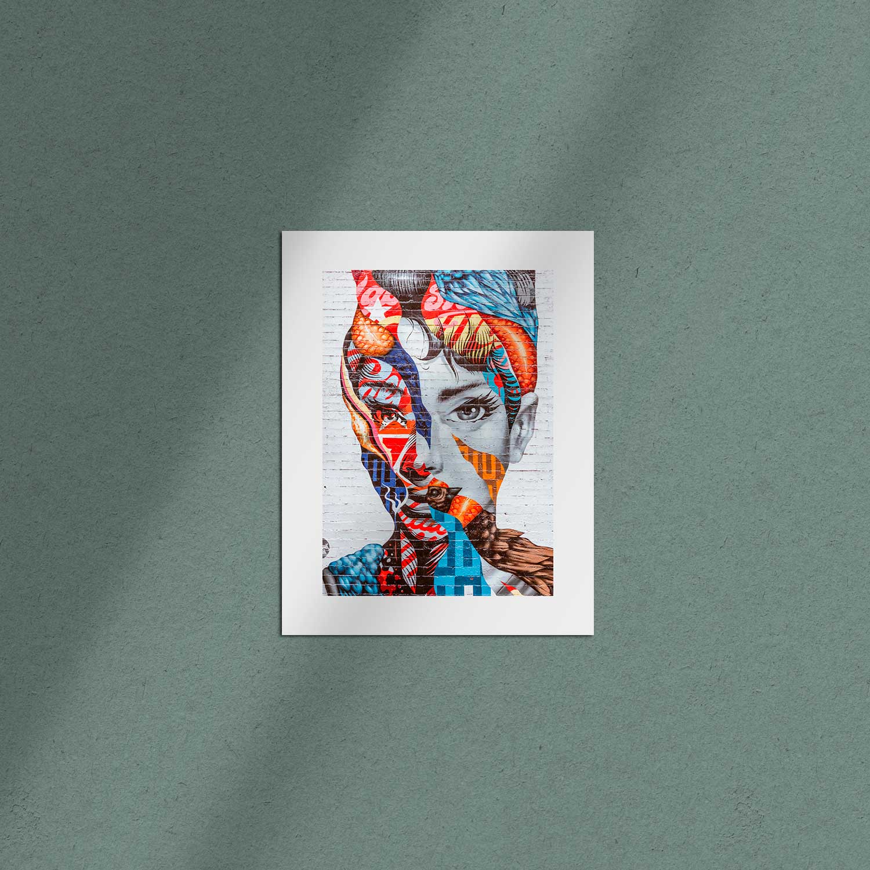 Poster 50×70 con borde